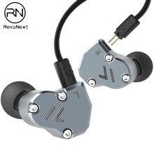 RevoNext QT2 двойной драйвер в ухо наушник Bass сабфувер и гарнитура Hi-Fi монитор DJ наушники для бега гарнитура вкладыши