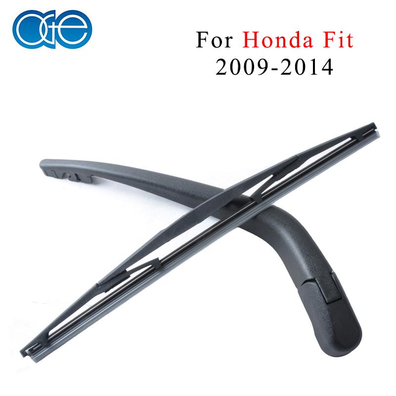 Oge 14'' Rear Wiper Arm And Blade For Honda Fit 2009 2010 2011 2012 2013 2014 Windscreen Car Auto Accessories fit for volkswagen vw tiguan rear trunk scuff plate stainless steel 2010 2011 2012 2013 tiguan car styling auto accessories
