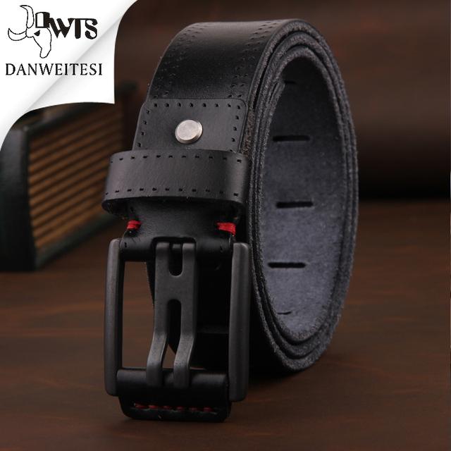[DWST] 2016 para hombre pin hebilla de cinturón de cuero para hombre cinturones de lujo cinturones hombre ceinture cinturones de diseñador hombres de negocios masculino calidad