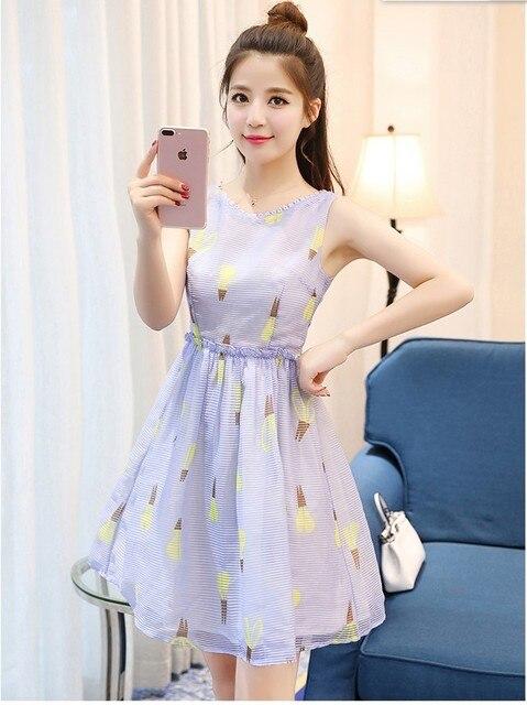 Best Selling Girls Casual Slim Dresses Korean Japanese -5243