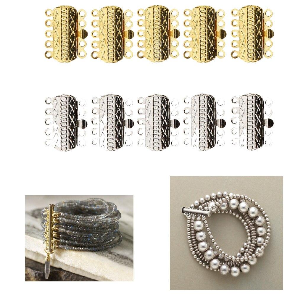 10 шт. Многожильная горка Магнитная трубчатая застежка ожерелье ювелирные изделия Ювелирная фурнитура и компоненты      АлиЭкспресс