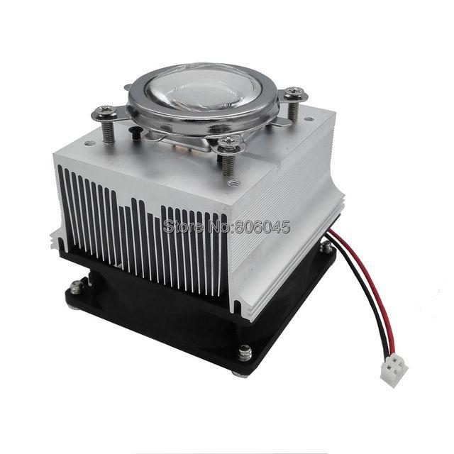 44mm Lente de Vidro Óptico + Refletor Bracket + Alumínio Dissipador de Calor de Refrigeração Conjunto de ventilador para 20 W-50 W LEVOU 60 Graus ou 90-120 grau