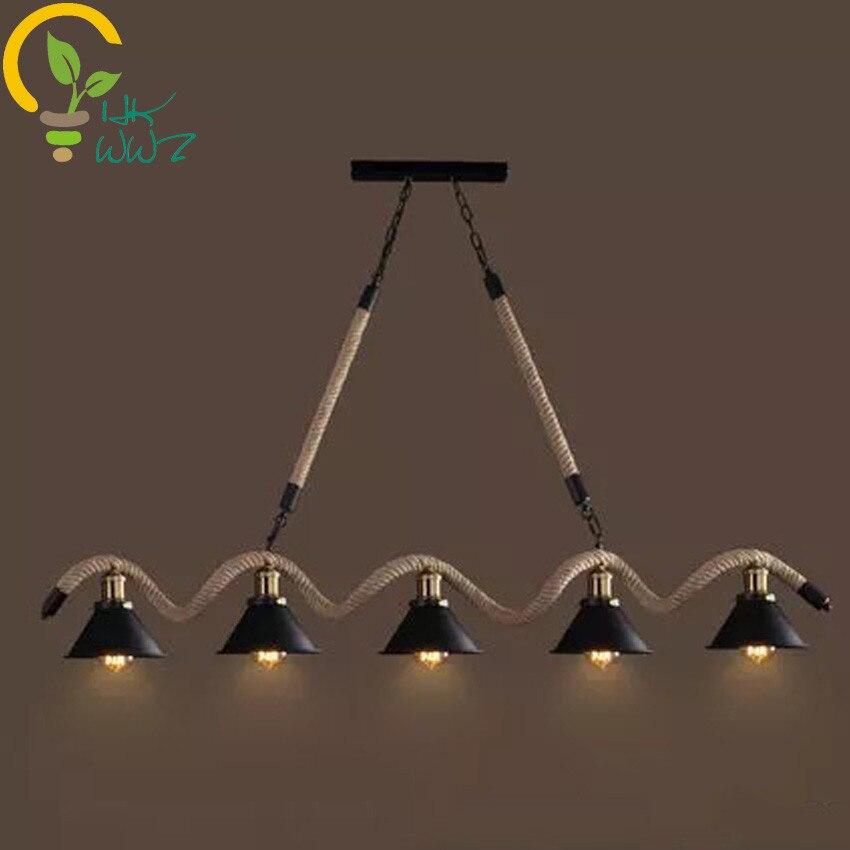 US $110.81 5% OFF|W stylu Vintage lampa wisząca nowoczesna kraju restauracja kreatywny lampy proste 35 głowice żelaza wisiorek światła oświetlenie