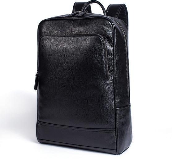2018 décontracté business sac à dos en cuir véritable porter grande capacité hommes et femmes vache sac à dos en cuir pour ordinateur portable-in Sacs à dos from Baggages et sacs    2