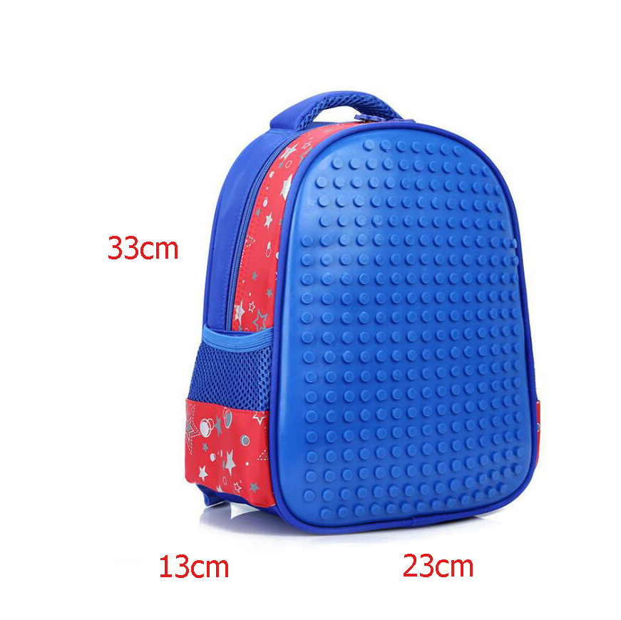 New Quality DIY Puzzle School Bags for Girls 3D Bear Print SchoolBag Children Orthopedic Backpack Mochila Escolar Birthday Gift