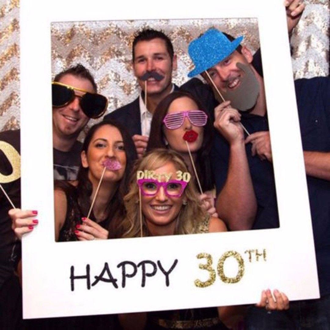 16//18//30//40//50th 21st Frame Photo Booth Props Paper Happy Birthday Party Decor