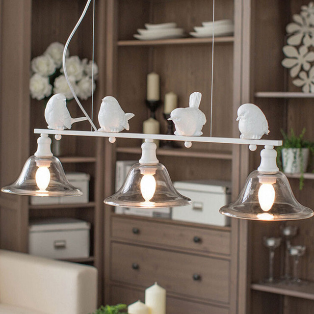 Modern Simple Fashion Nordic Style Lamps Living Room Lights Dining Bird Rustic Pendant Light Personalize