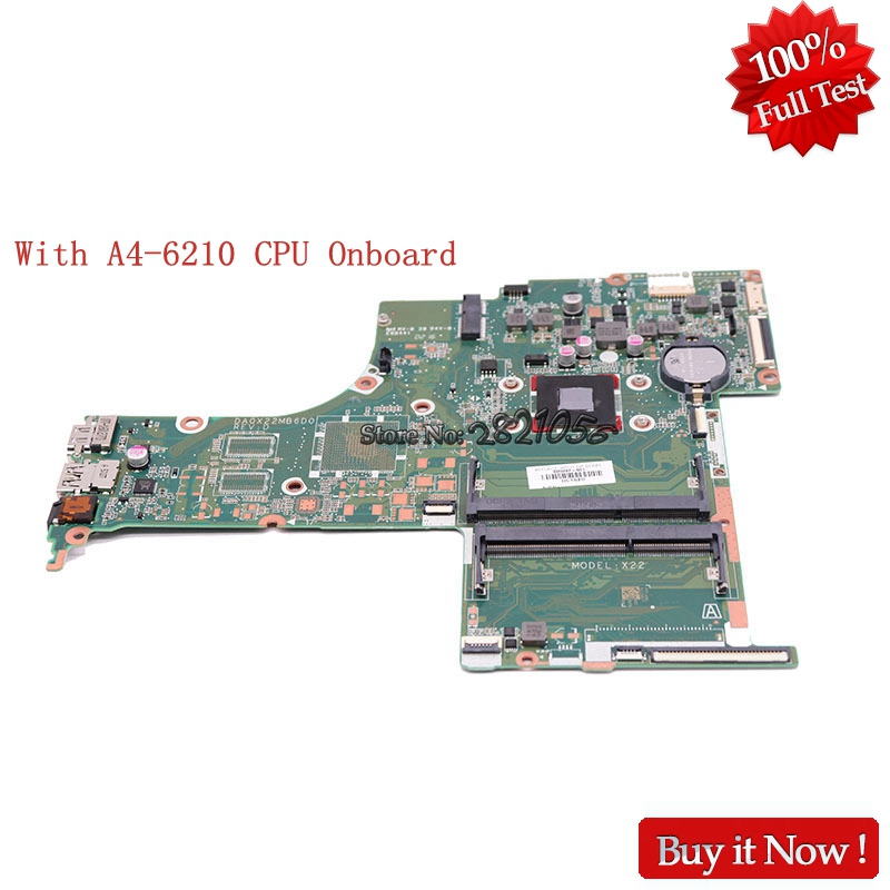 Nokotion 809397-001 809397-601 Laptop Motherboard For HP Pavilion 17-G DA0X22MB6D0 With A4-6210 Cpu Onboard