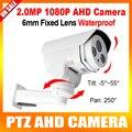 HD 1080P PTZ AHD Camera Outdoor 6MM Lens Pan Tilt Rotation 2MP Bullet Surveillance Cameras 2PCS Array Leds IR 30m CCTV Camera