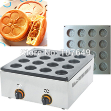 Hot Sale 16pcs Commercial Use Non-stick LPG Gas Dorayaki Waffle Baker Maker Machine