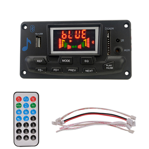 Image 1 - Leitor de mp3 módulo de áudio suporte fm rádio aux usb com letras display 12v lcd bluetooth mp3 decodificador placa wav wma decodificação