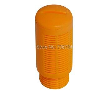 3/4 silenciador neumático de ruido de aire de plástico, silenciador de plástico naranja