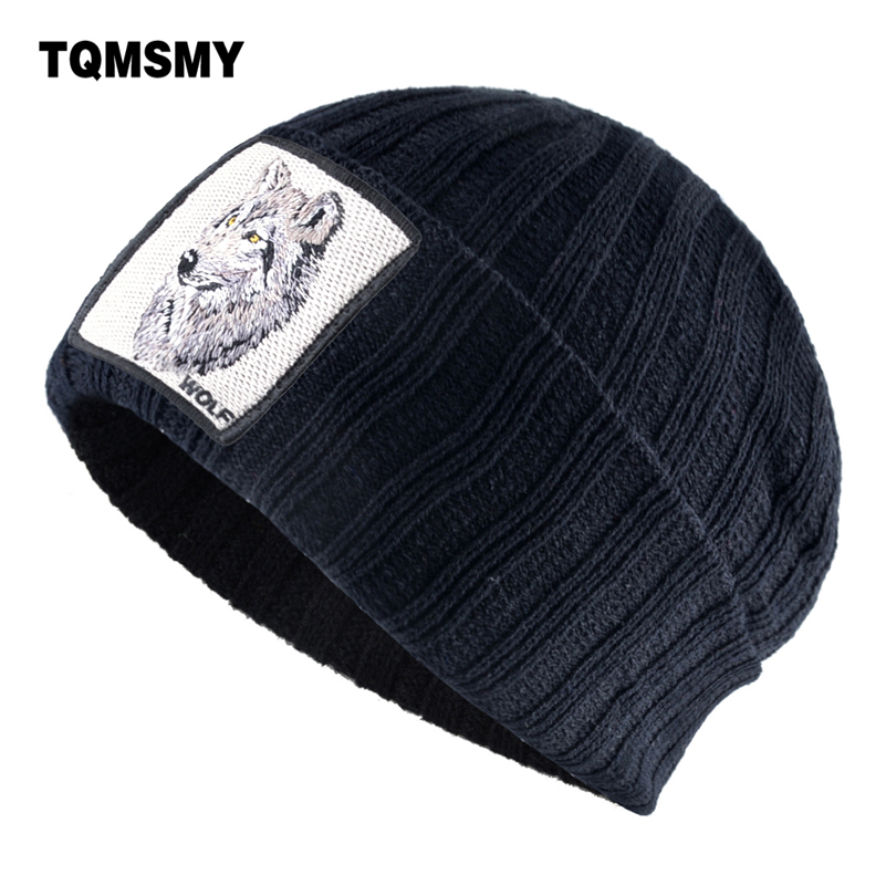 19 Kind Of Embroidery Animal Hats For Men Winter Beanies Thick Warm Bonnet Outdoor Skiing Cap Knitted Wool Hat Women Gorro Touca