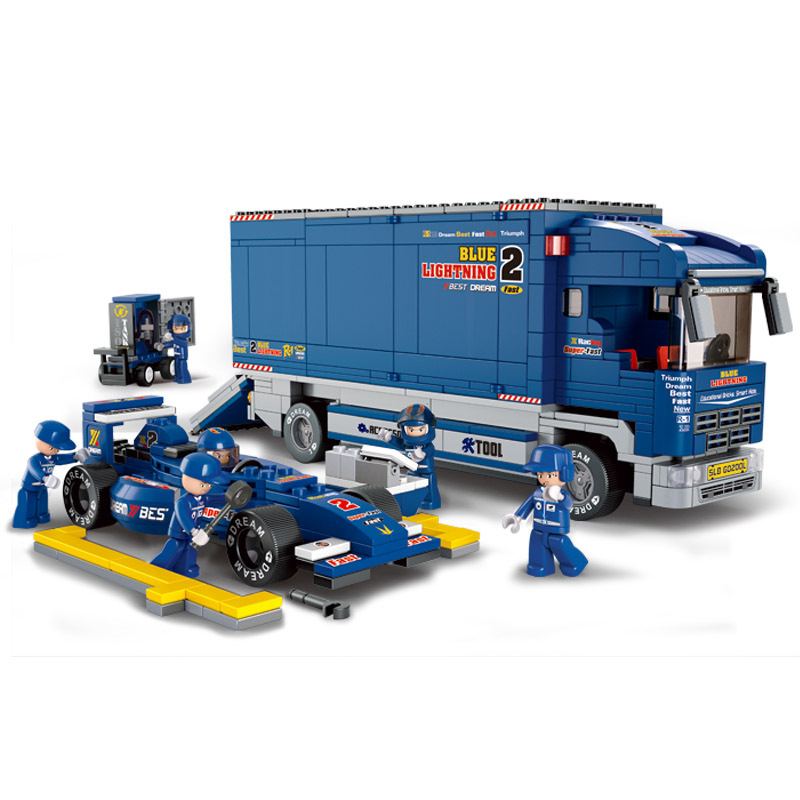 641pcs Children s building blocks toy Compatible city technic Formula car transport truck figures Bricks birthday