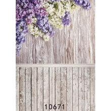 Crianças fundos fotográficos flores piso de madeira foto backdrops pano fundo vinil para estúdio foto