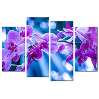 4 개 꿈꾸는 보라색 꽃 벽 예술 그림 홈 장식 거실 캔버스 인쇄 그림 벽 사진 인쇄 캔버