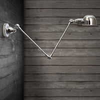 RH French designer lamps Loft balcony Continental American industrial retro creative trumpet mechanical arm wall lamp,E14