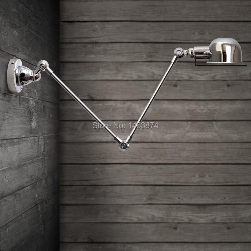 RH Francouzské designérské lampy Loft balkon Kontinentální americké průmyslové retro tvůrčí trumpet mechanické paže nástěnná lampa, E14