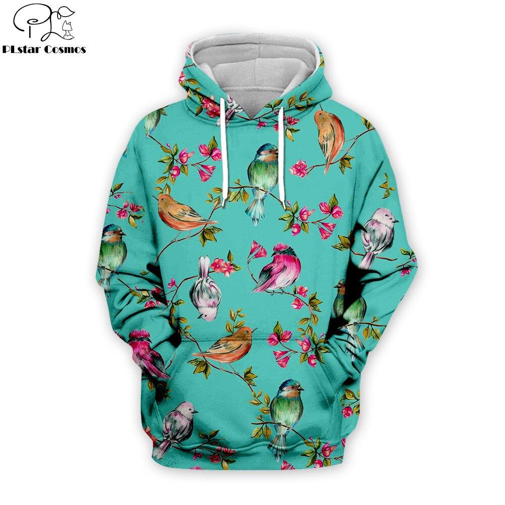 Parrot Hoodies Men Women Hoodies Hip Hop Pullover Bird 3d Print Sweatshirt Tracksuits Clothes Casual Tops Sweatshirt Coat THS038