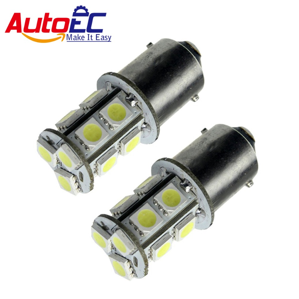 AutoEC 10pcs S25 1156 1157 led 13 smd 5050 P21W BAY15D Car Tail Brake Reverse Signal light White Red #LF07 1157 bay15d 2 3w 13 5050 smd led red car turn signal brake reversing light pair 12v