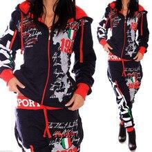 ZOGAA 2019 New Women Fashion 2 Parts Hooded Sweatshirt and Pants Set Tracksuit Sportswear sweatsuits for women