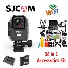 Original SJCAM M20 Wifi Waterproof Sports Action Camera+Battery Charger+Extra 1pcs Battery+38Pcs Accessories Kit