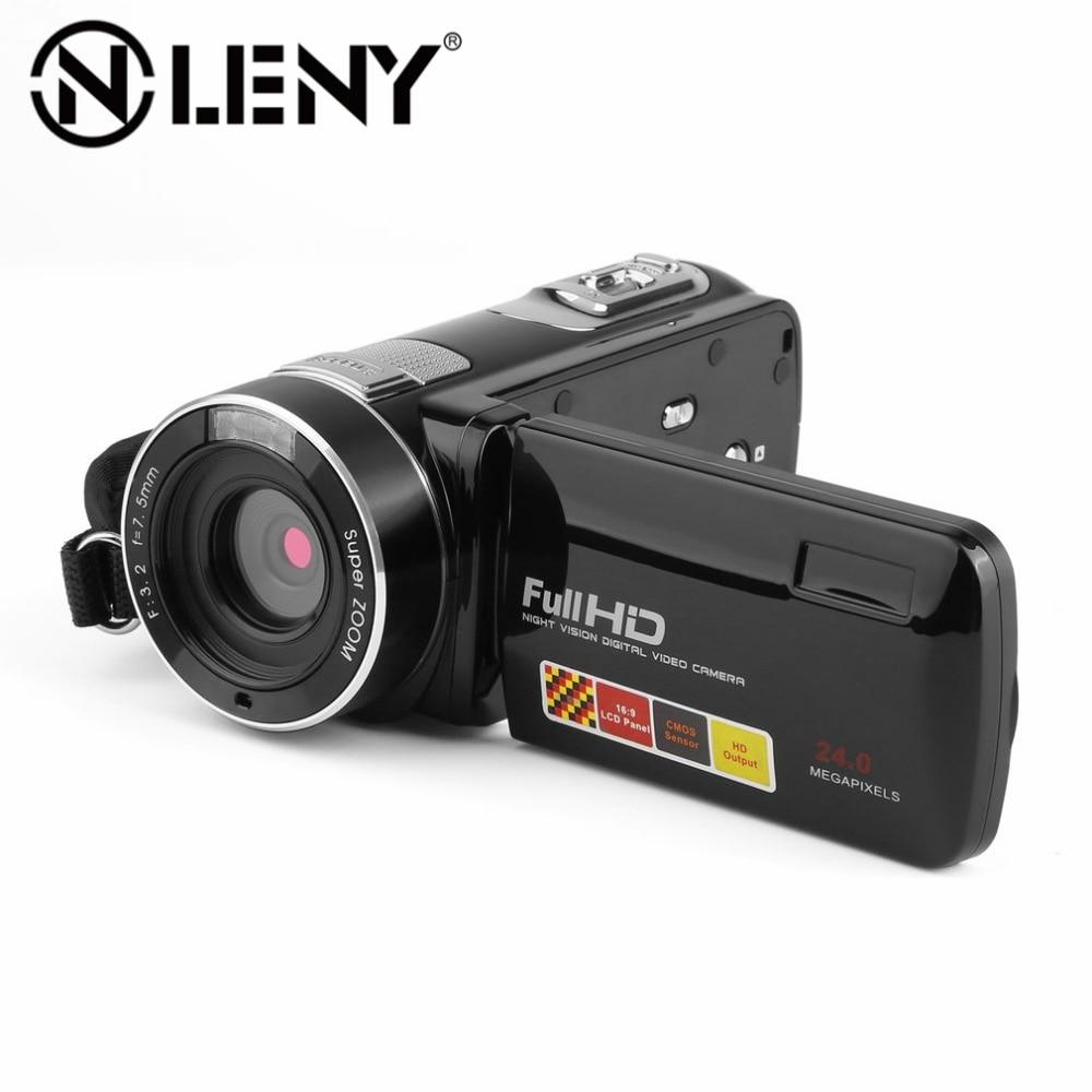 digital video camera full hd 1080p 3 0 lcd touchscreen 270 degree rotary mini camcorder 18 x. Black Bedroom Furniture Sets. Home Design Ideas