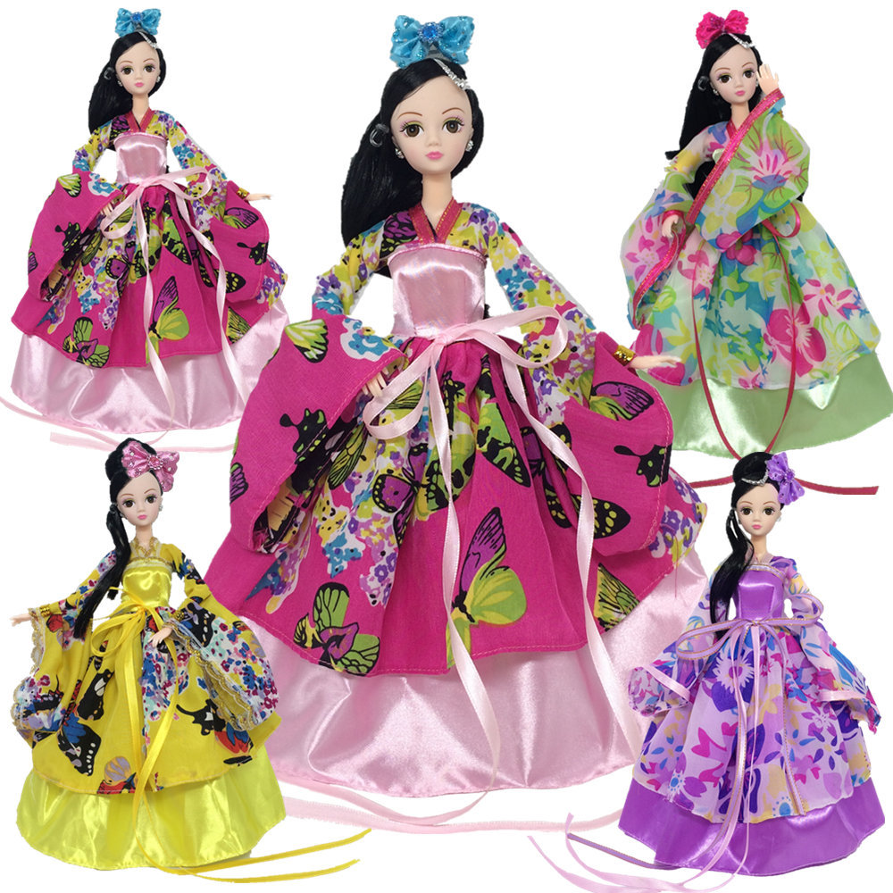 NK One Pcs Princess Doll Cosplay Traditional Chinese Ancient Beauty Unique Design Clothes For Barbie Doll Fashion Outfit аксессуары для косплея random beauty cosplay