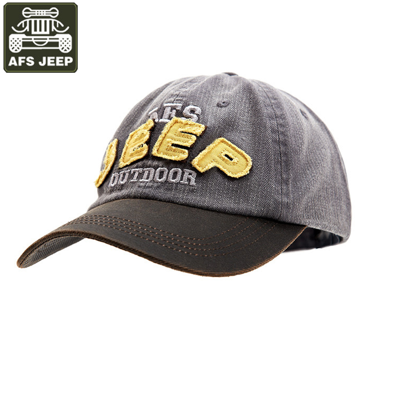 AFS JEEP 2017 Baseball Cap 100% Cotton Snapback Unisex Fitted Hat Casual Cap Embroidery Hip Hop Men's Cap Adjustable Size cn rubr fashion embroidery letter casual baseball cap outdoor climbing hip hop cap 6 colors cotton unisex spring summer hat