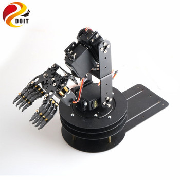 SZDOIT 5-Axis Metal Robotic Arm 360 ° Rotating Base Industrial 5 DOF Robot For Arduino Multifunction Robot DIY Education