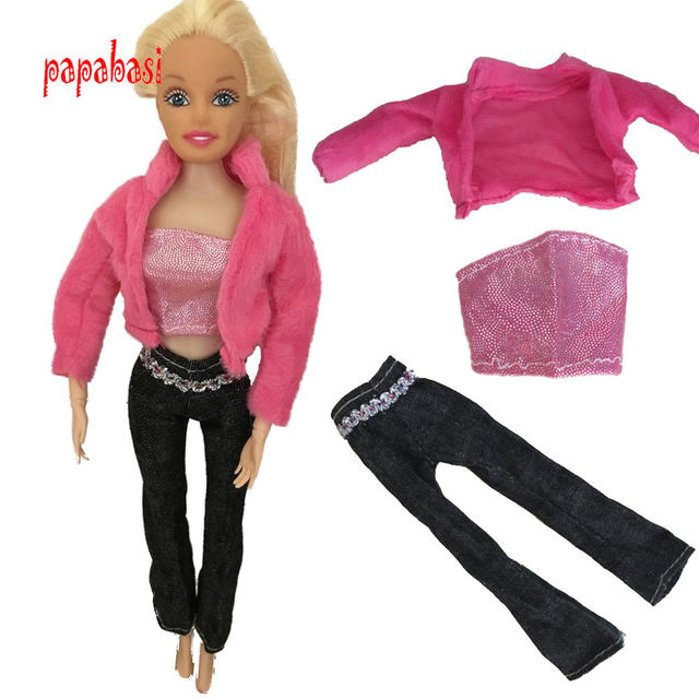 d457841b4f0 New 1set T shirt+pants+coat For 1 6 Doll Doll clothes-in Dolls ...
