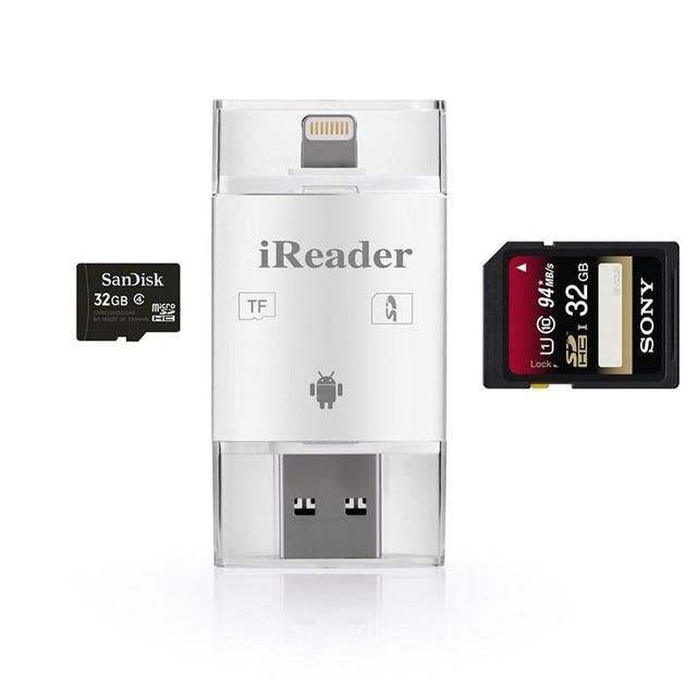 Lecteur de carte USB 3in1 iFlash lecteur de carte USB Micro SD SDHC TF OTG pour iPhone Android