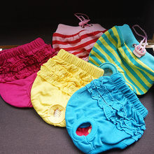 Pet-Pant Dog-Shorts Dog-Physiological-Pants Cotton Blue Green Yellow Red Lace High-Quality