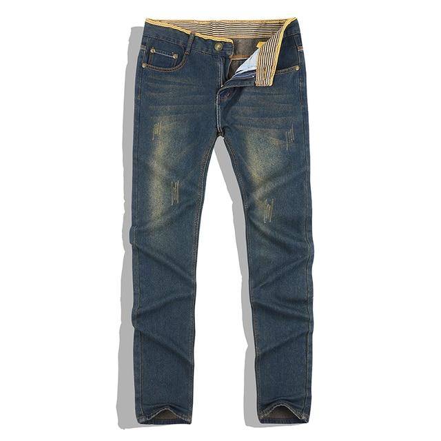 Классический горячий продажа прямой хлопок мужские джинсы мода хлопок джинсы мужские комфортно моды мыть мужские джинсы