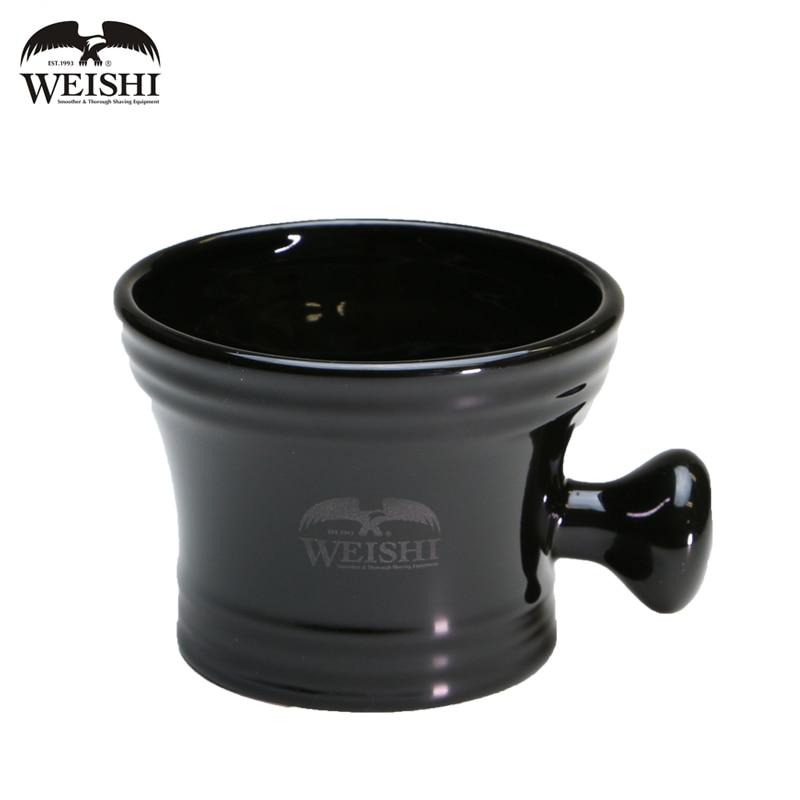WEISHI High Quality Shaving Bowl Black Ceramic Shaving Mug Classical Soap Cup 1 pc стоимость