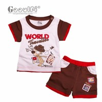Gooulfi Baby Set Summer 2017 Newborn Baby Boy Clothes Short Sleeves Outfit Clothes Set Age 0