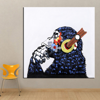 Wall Art Hand Painted Cattle Modern Animal Orangutan Oil Painting Wall Decorative Canvas Art Picture For