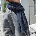 Outono inverno Imitação cashmere cachecol coringa da moda pequeno monstro monocromático cachecol Imitação cachecol de caxemira lenço feito malha