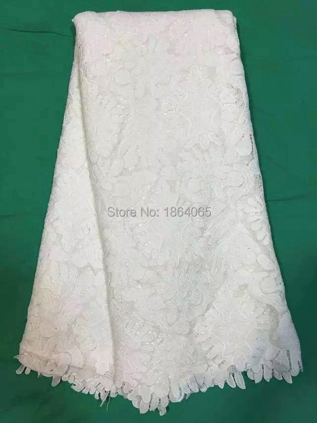 ▽Increíble seda de encaje soluble africano del cordón tela francesa ...