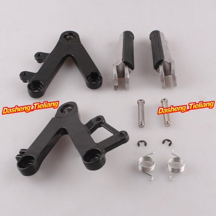 Aluminum Alloy Passenger Rear Foot Pegs Footrest Brackets for HONDA CBR250 90 97 MC22 font b