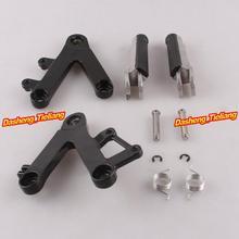Aleación de aluminio Trasero de Pasajeros Estriberas Reposapiés Soportes para HONDA CBR250 MC22 90-97, motocicleta piezas de Repuesto Accesorios