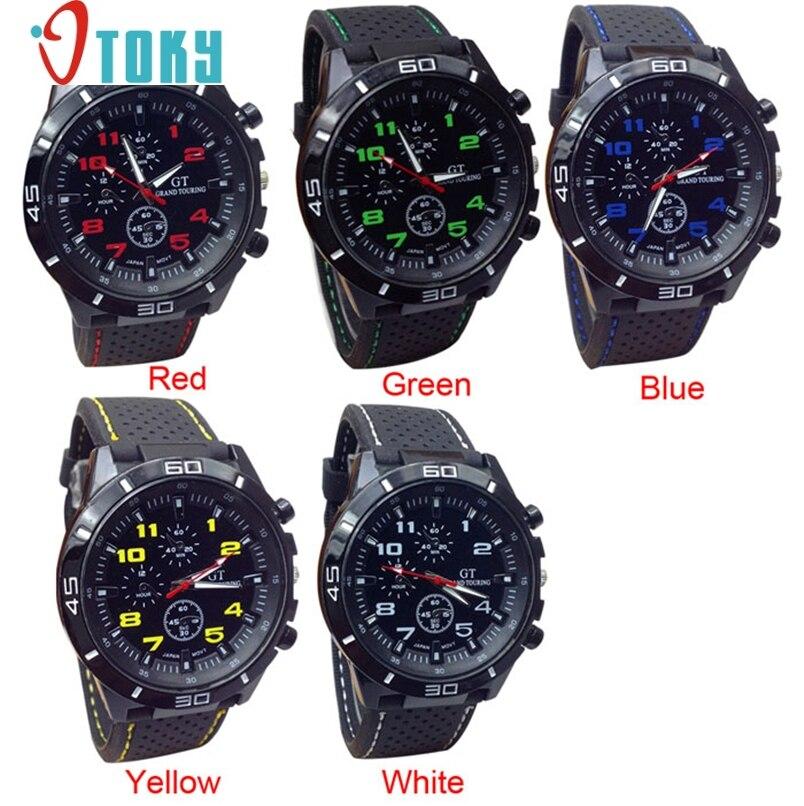 b9a1d6a24af Militar relógios para homens Quartzo Relógio Do Esporte Silicone Relógio De  Pulso Horas Moda Dropshipping