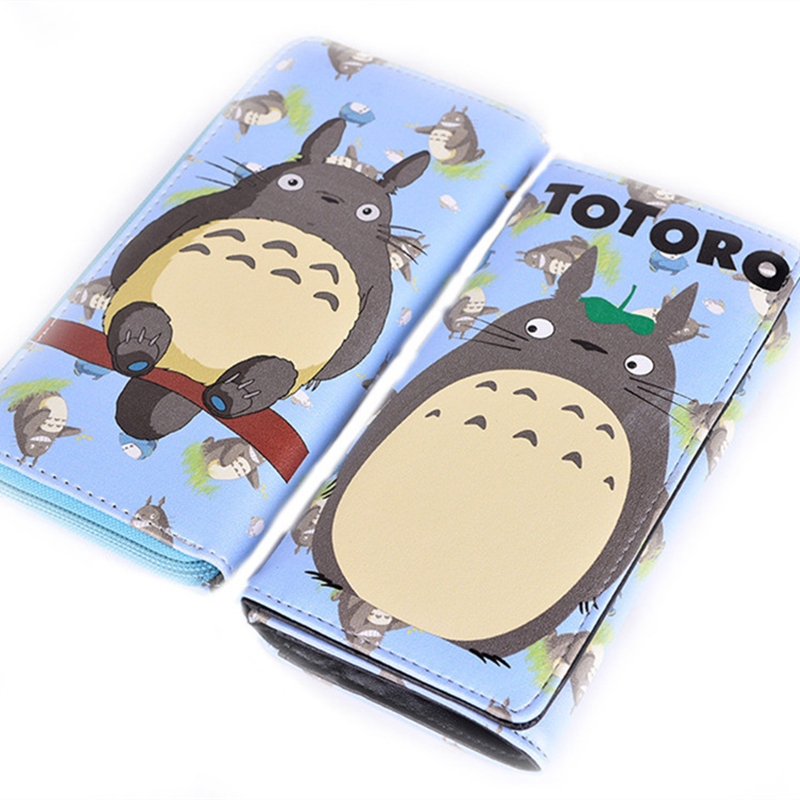 2017 New My Neighbor Totoro Kawaii Totoro Color Print Women Long Wallet with Coin Pocket Gift Student Pu Anime Purse Clutch