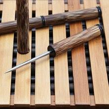 Ebony inlaid bamboo Merlot tea bamboo gold needle cone Pu'er Tea fittings stainless steel knife needle tea