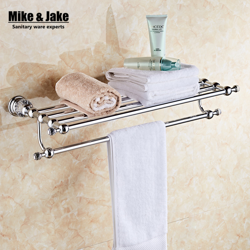 Bathroom Accessories chrome Metal Pendant Towel Rack 2015 New Arrival Prateleira Cabideiro double Towel rack