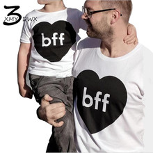 XMY3DWX Father & Me Matching Clothe Cute Print Pattern T-shirt Family Wear 2017 Summer Family Look/Men's short sleeve T-shirt