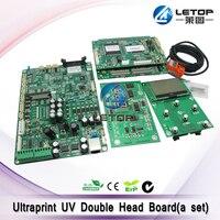 Ultraprint uv flat machine TX800 double head UV printed circuit board(a set)|print head|head printboard board -
