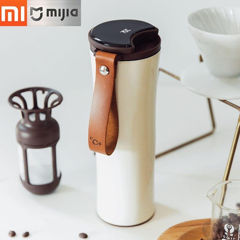 Xiaomi кружка Moka Smart Кофе стакан вакуумная изоляция бутылка Touch Температура Экран дисплея Нержавеющаясталь Кофе чашки