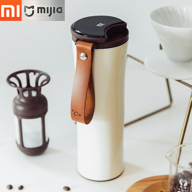Xiaomi Travel Mug Moka Smart Coffee Tumbler Vacuum Insulation Bottle Touch Temperature Display Screen Stainless Steel Coffee Cup my favouite travel mug tea coffee water vacuum cup thermos bottle stainless steel water bottle mug ice cream