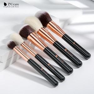Image 4 - DUcare brushes Black 15PCS Makeup brushes Professional Make up brushes Natural hair Foundation Powder Highlight Brush Set